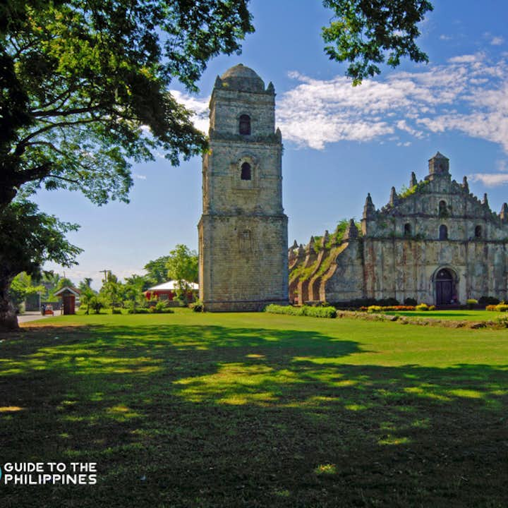 View of Paoay Church from afar in Laoag