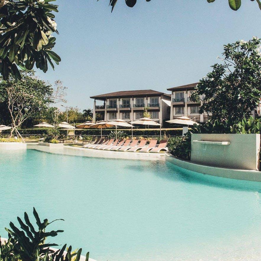 The pool area of ACEA Subic Beach Resort