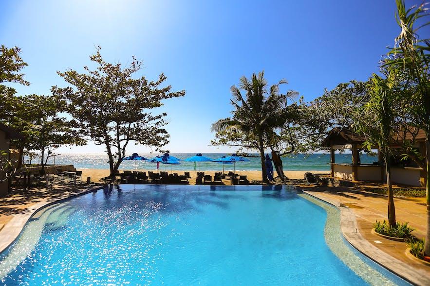 Beach view in Aureo Resort, La Union