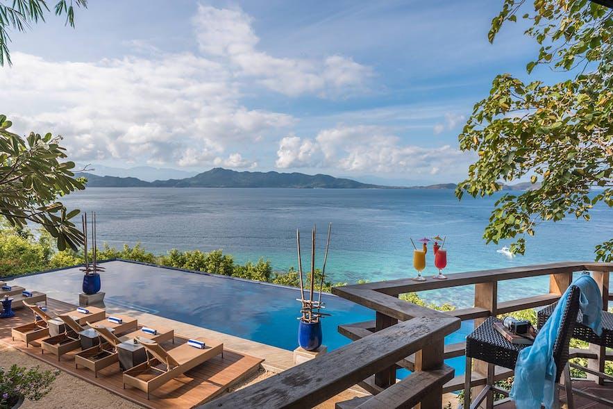 View of Vivere Azure Resort's pool area