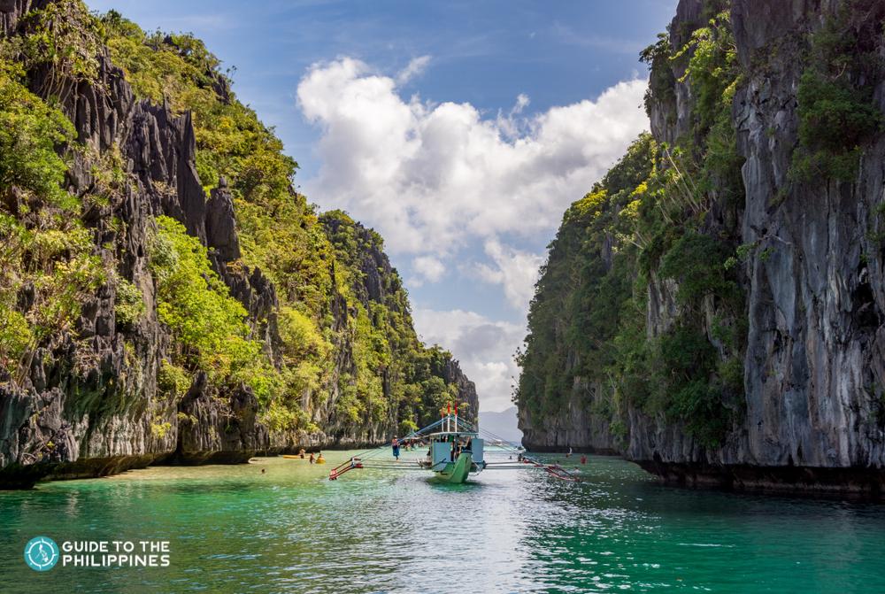A boat in Big Lagoon El Nido Palawan