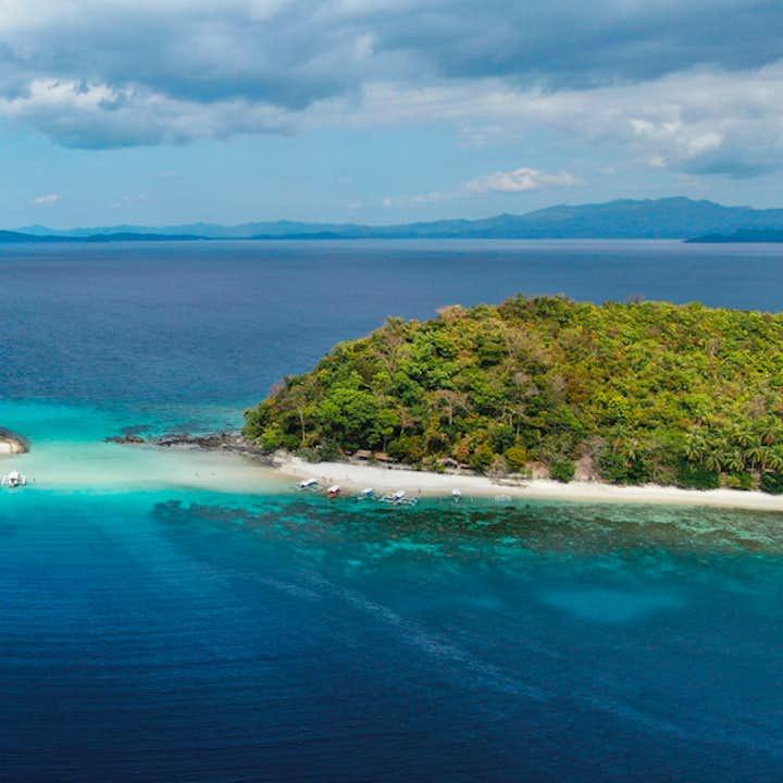An island in Port Barton Palawan