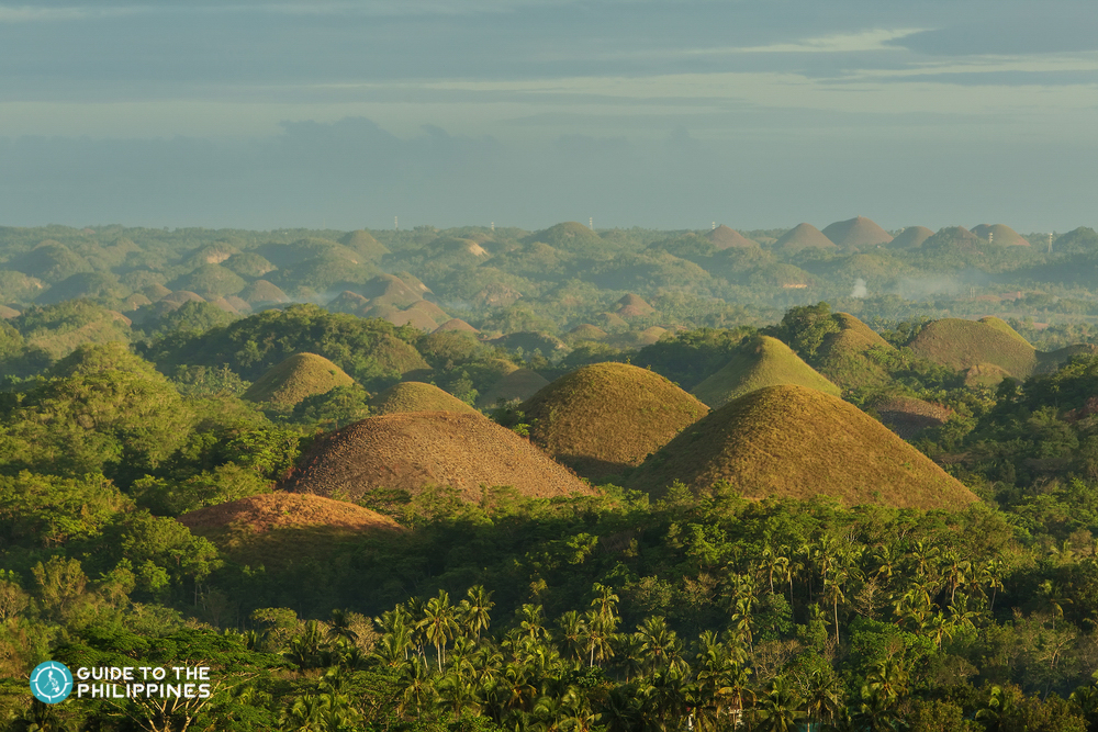 Scenic view of Chocolate Hills in Bohol
