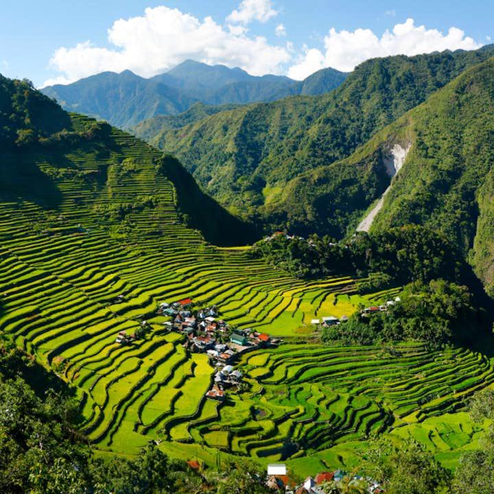 Scenic view of Batad Rice Terraces in Banaue