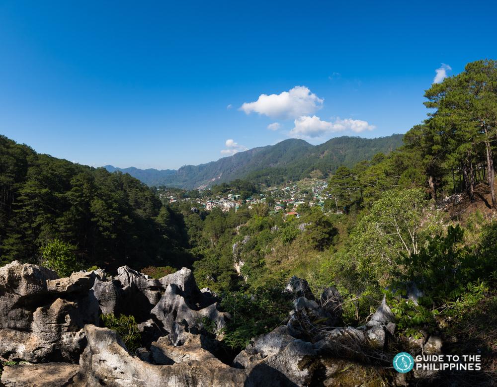 Scenic view of Sagada's landscape