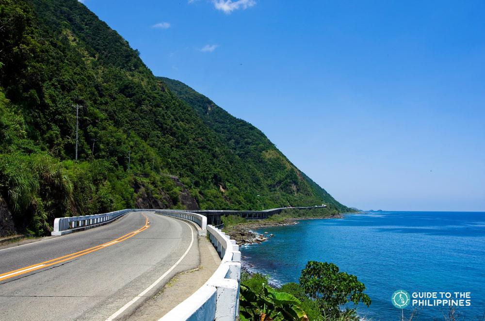 Roadside view of Patapat Viaduct in Ilocos