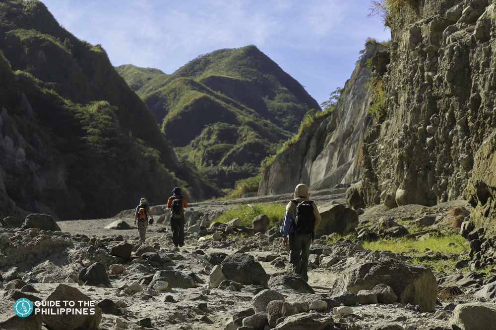 Rocky trail going to the peak of Mt. Pinatubo
