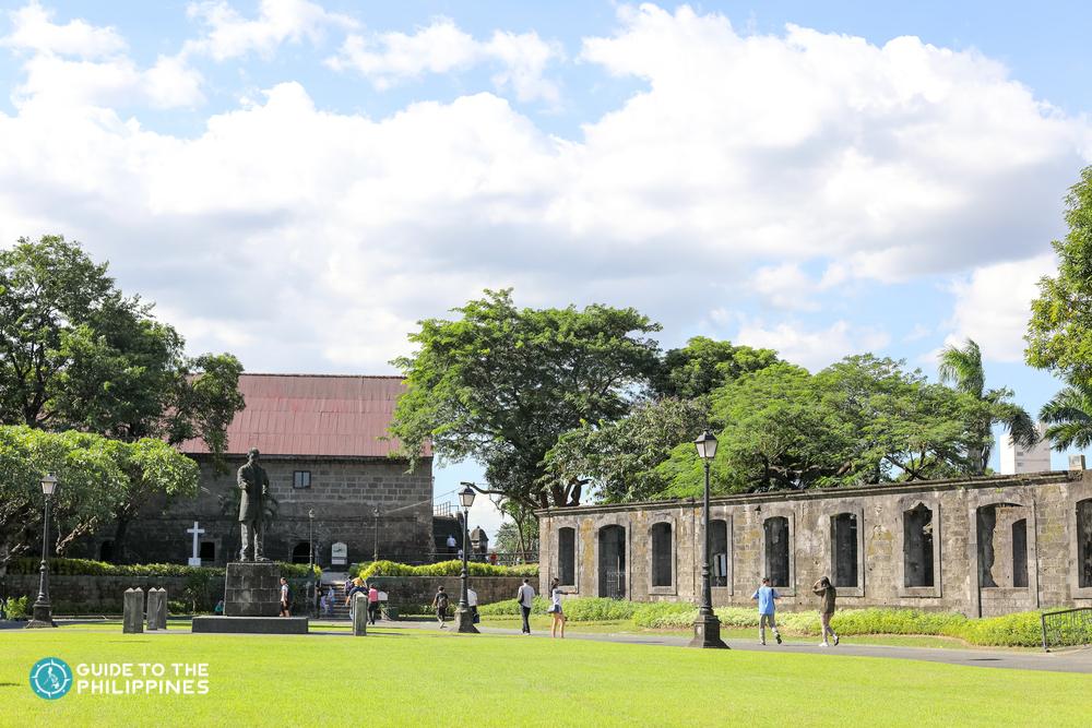 People going around Fort Santiago inside Intramuros in Manila