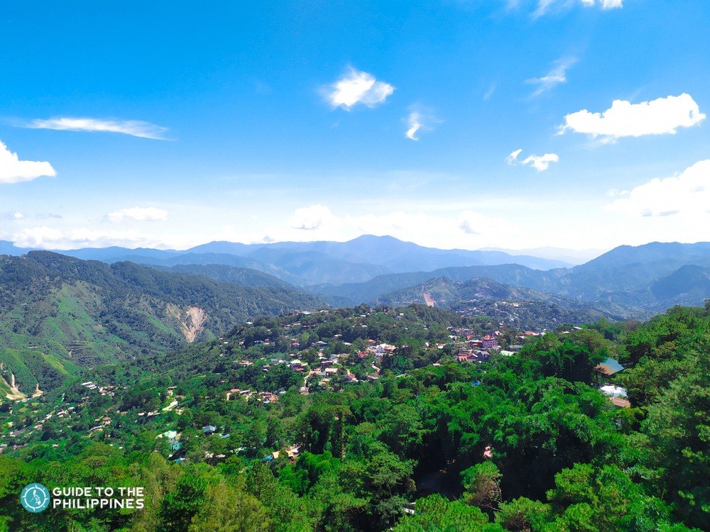 Sunny day at Mines View Park in Baguio City
