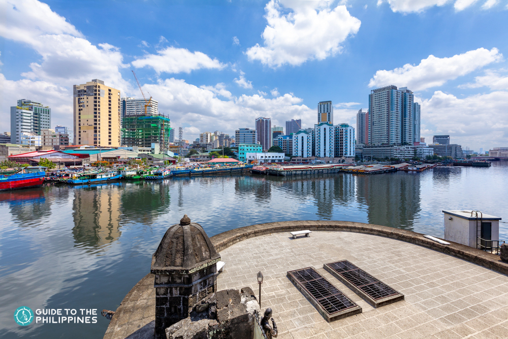 Pasig River view from Fort Santiago in Manila
