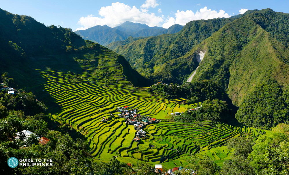 Scenic sight of Batad Rice Terraces in Banaue
