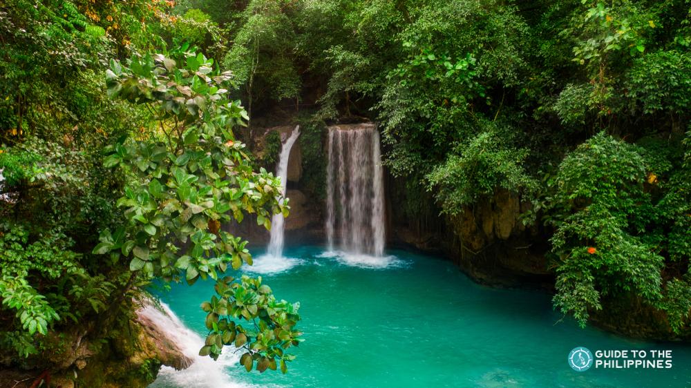 Majestic view of Kawasan Falls in Cebu
