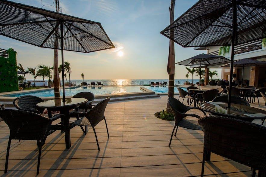 The pool area of Lafaayette Luxury Suites Resort