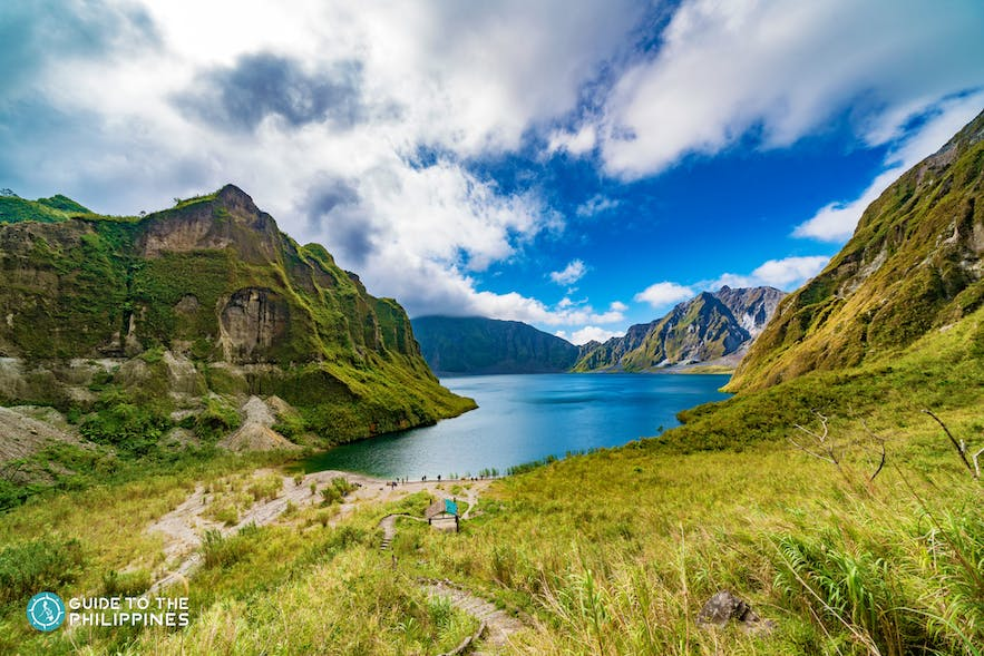 View of Mt. Pinatubo's crater lake at the summit