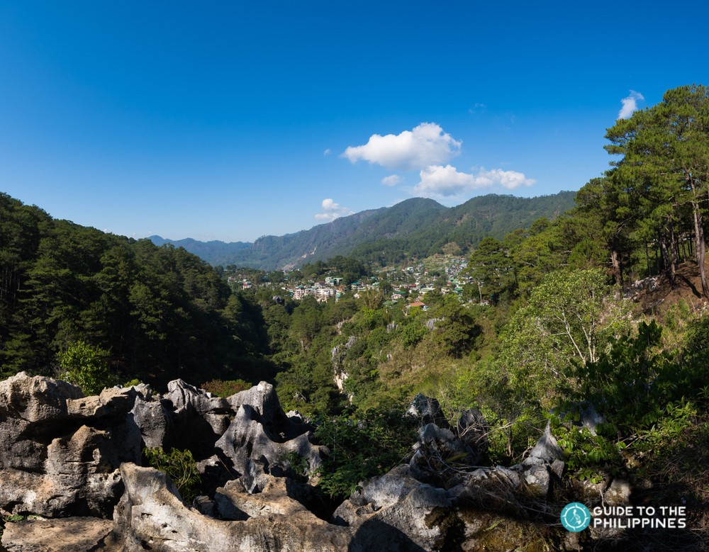 Scenic view of the town of Sagada