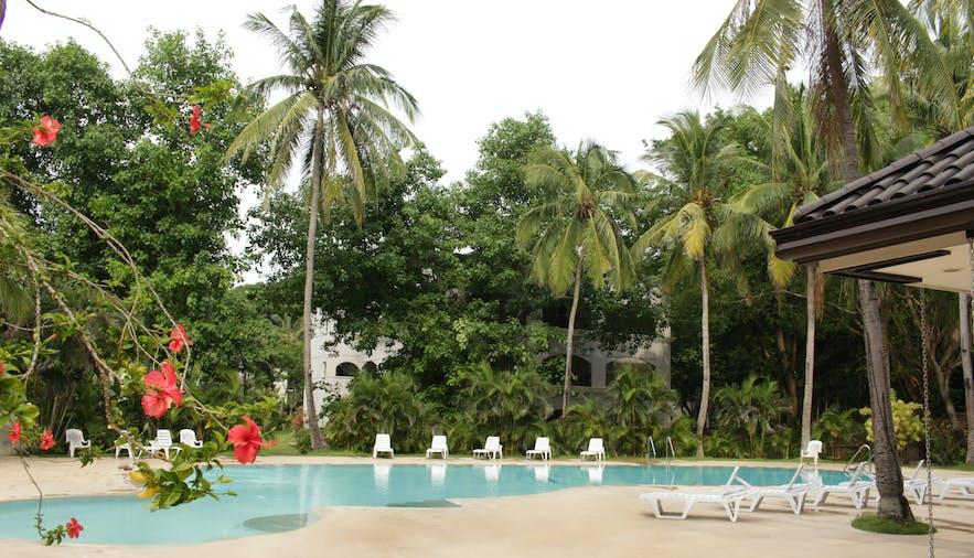 The pool area in Montemar Beach Club, Bataan