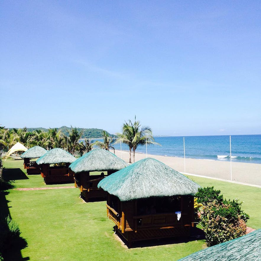 The beachfront of Awesome Hotel and Resort, La Union