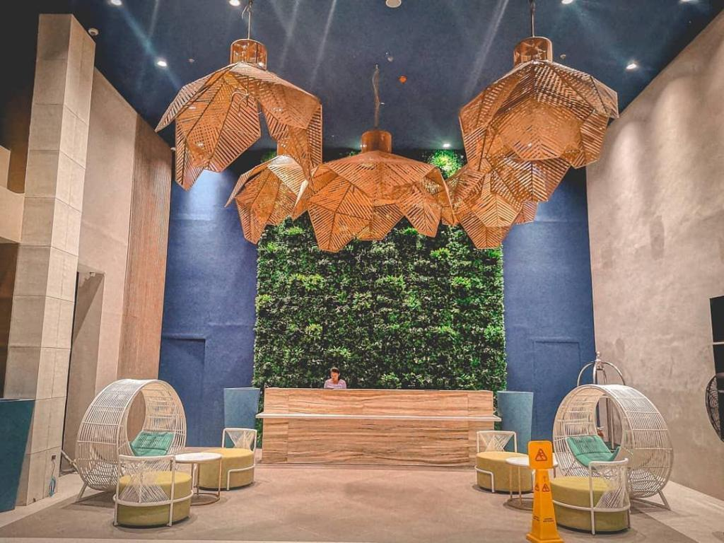Lobby of Solea Palms Resort in Cebu