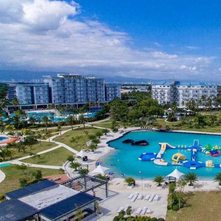 Aerial view of the pool of Solea Mactan Resort