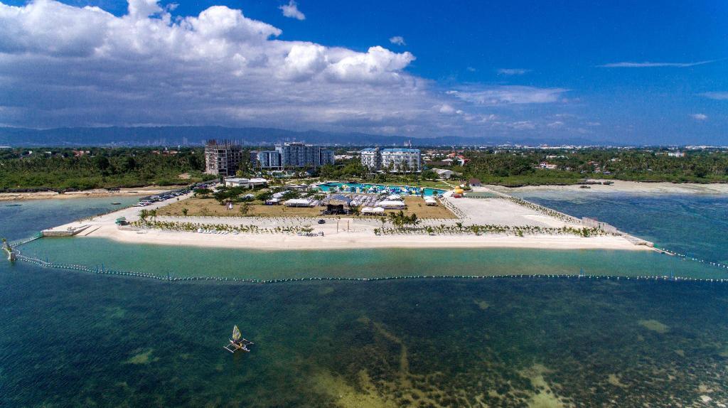 Aerial view of Solea Resort in Mactan Island