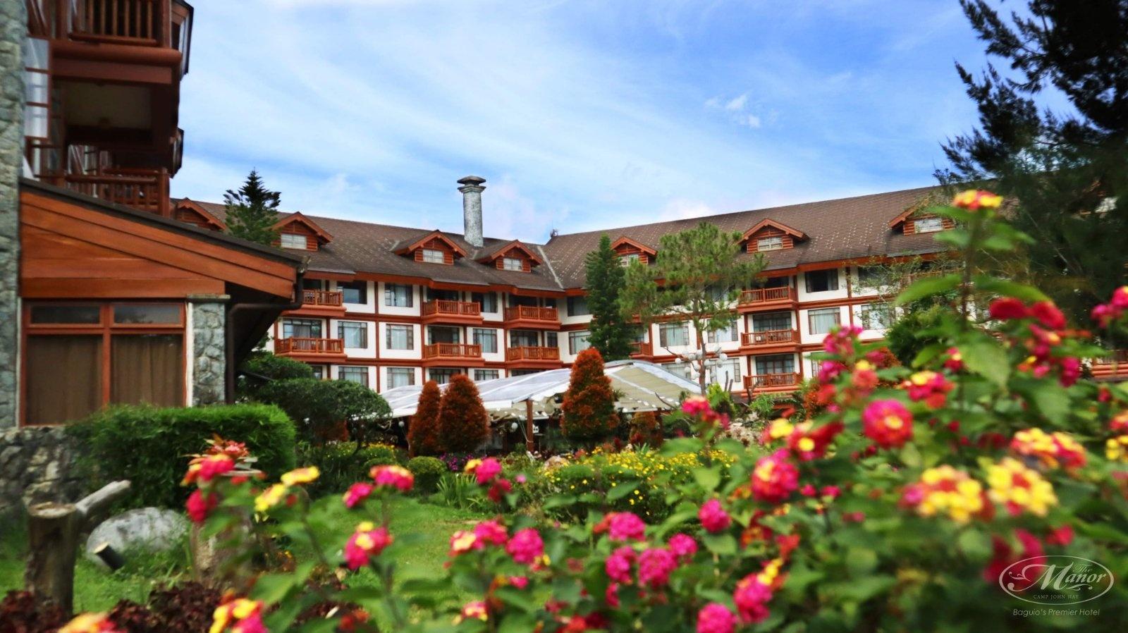 Facade of The Manor Hotel at Camp John Hay