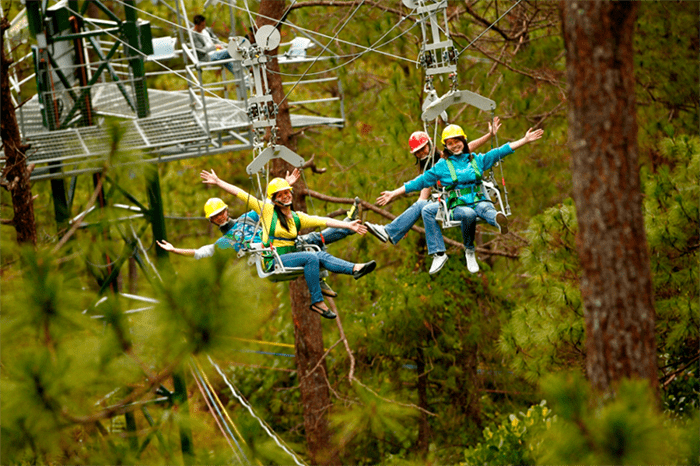 Activity at the Tree Top Adventure inside Camp John Hay
