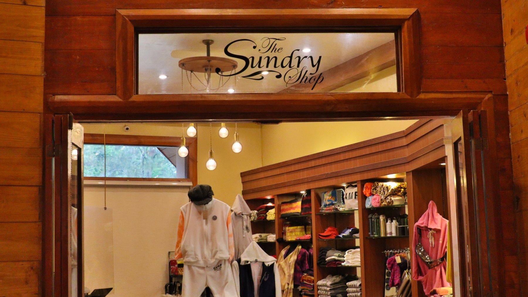 Check out the souvenir shop at The Manor Hotel