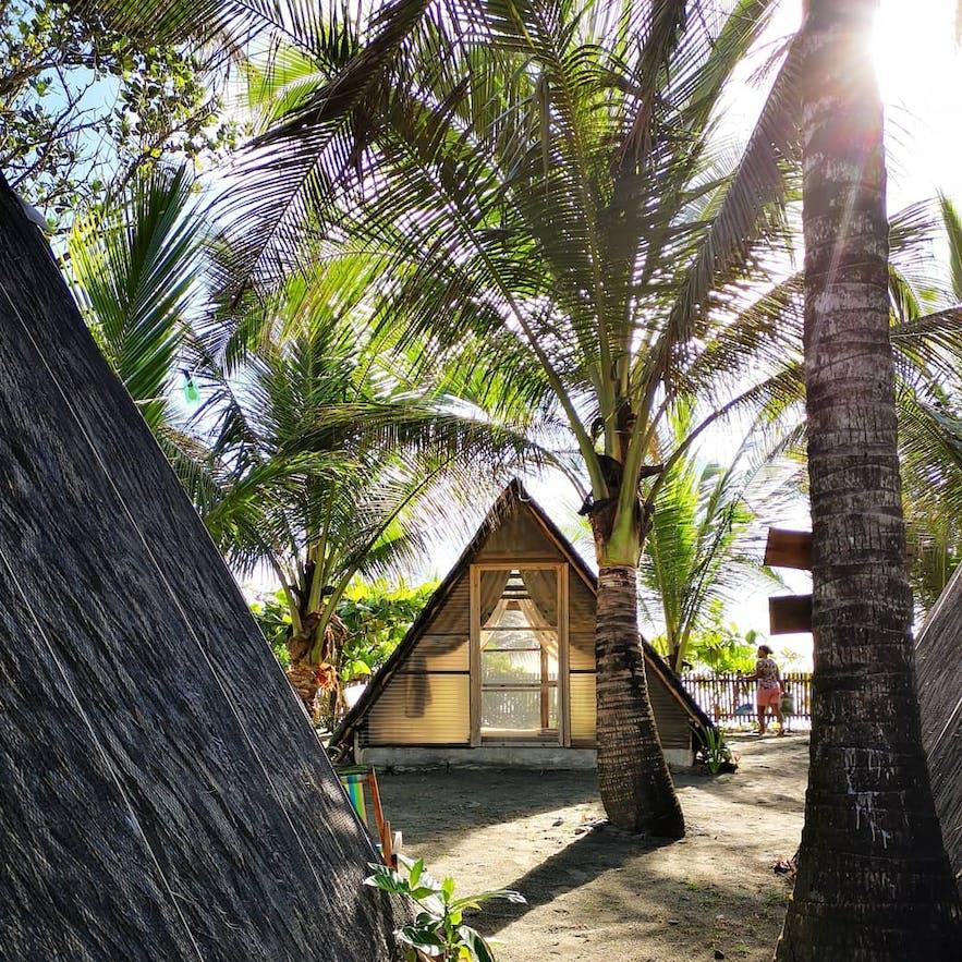 One of the huts in Balituk Baler