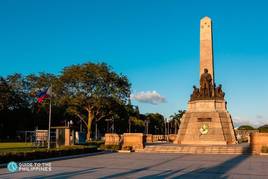 Rizal monument in Rizal Park, Manila