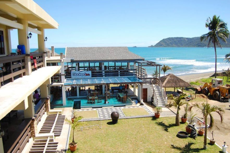 Beach view of Aliya Surf Camp and Resort