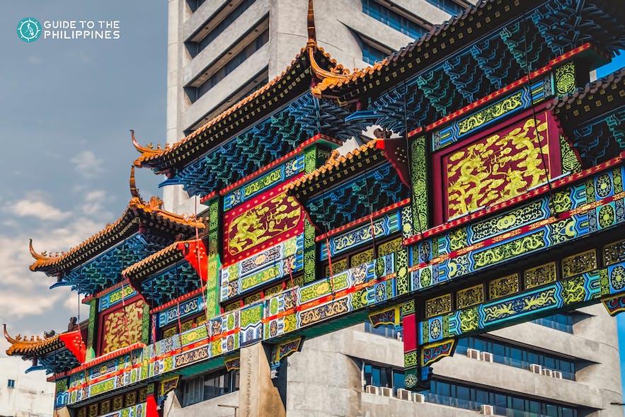 The iconic gates of Binondo's Chinatown
