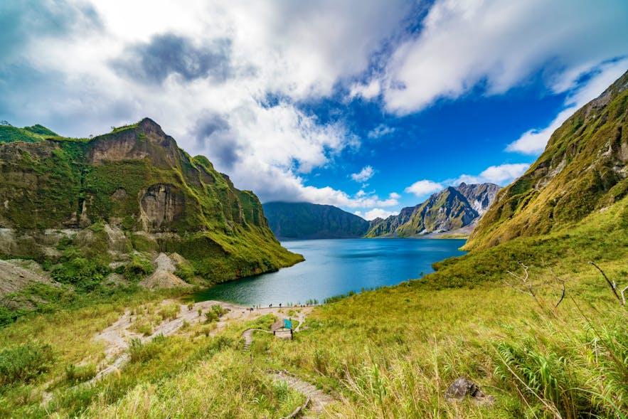 Panoramic view of Mt. Pinatubo's crater lake