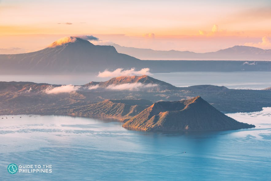 Taal Volcano during sunset