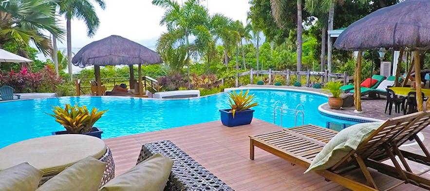 Pool area of Awilihan Private Paradise Resort