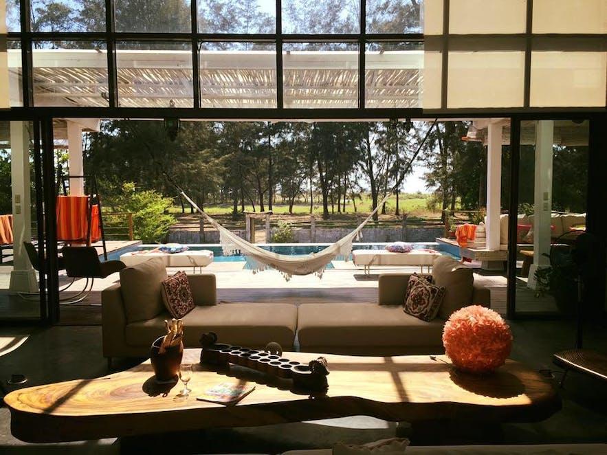 Zambawood's pool area