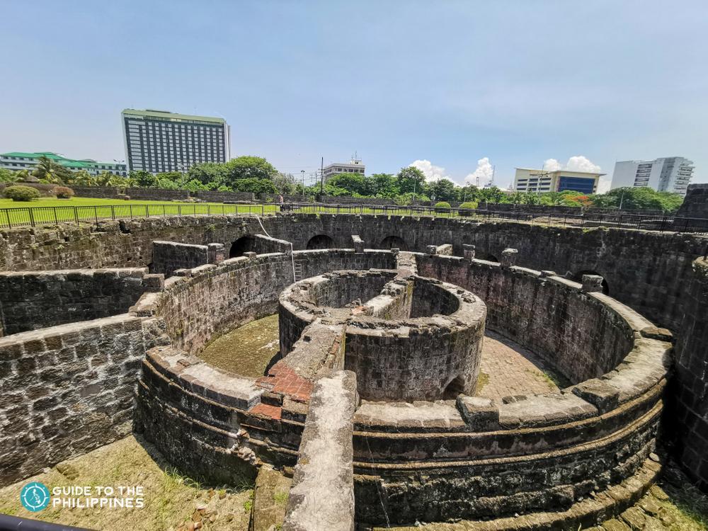 Stone structure of Baluarte de San Diego in Manila