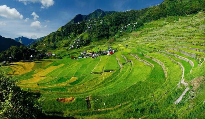 Scenic landscape of Batad Rice Terraces in Banaue