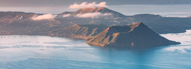 Taal Volcano during sunset.jpg