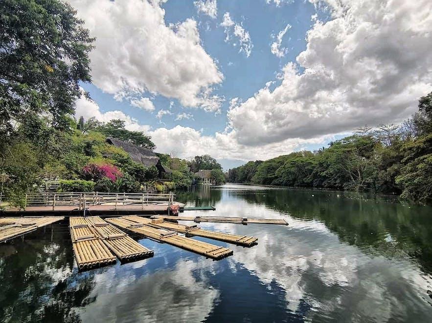 The river inside Villa Escudero Plantations and Resort