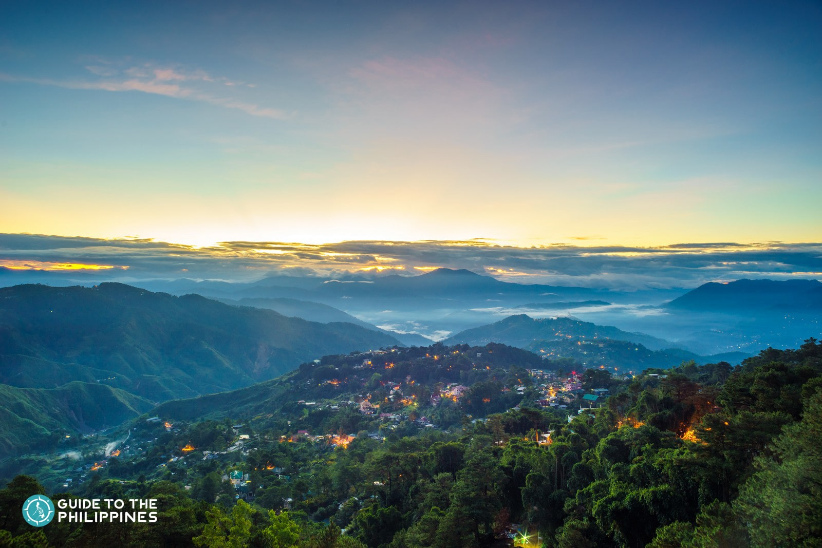 View of the sunset from Mines View Park in Baguio City