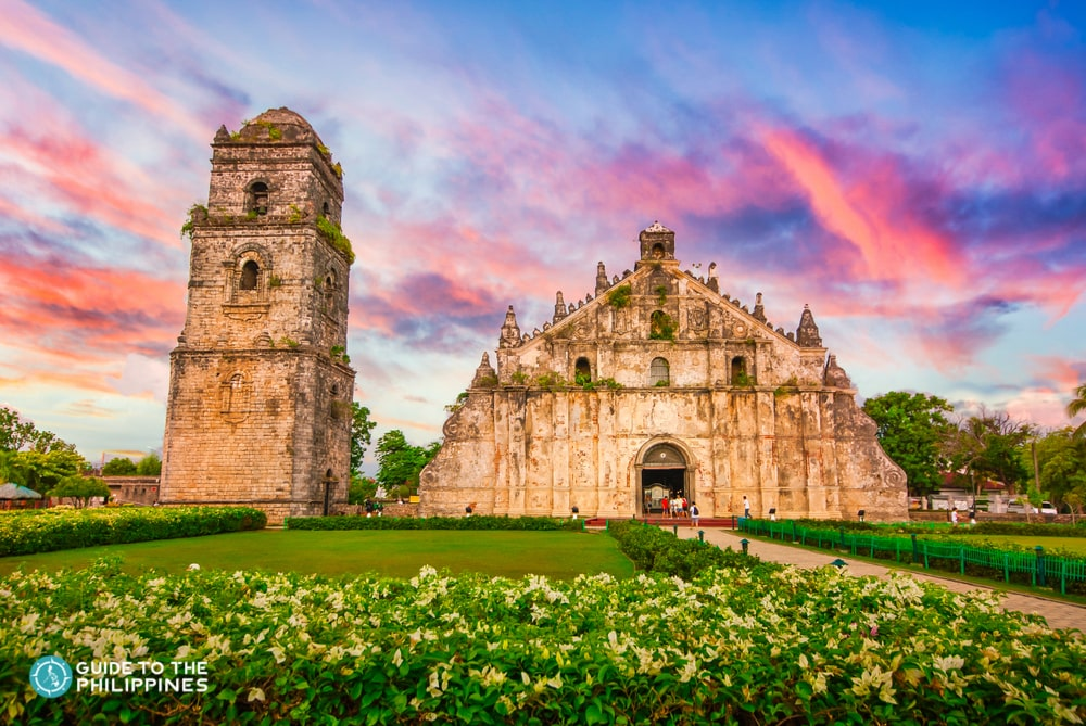 Sunset over Paoay Church in Laoag