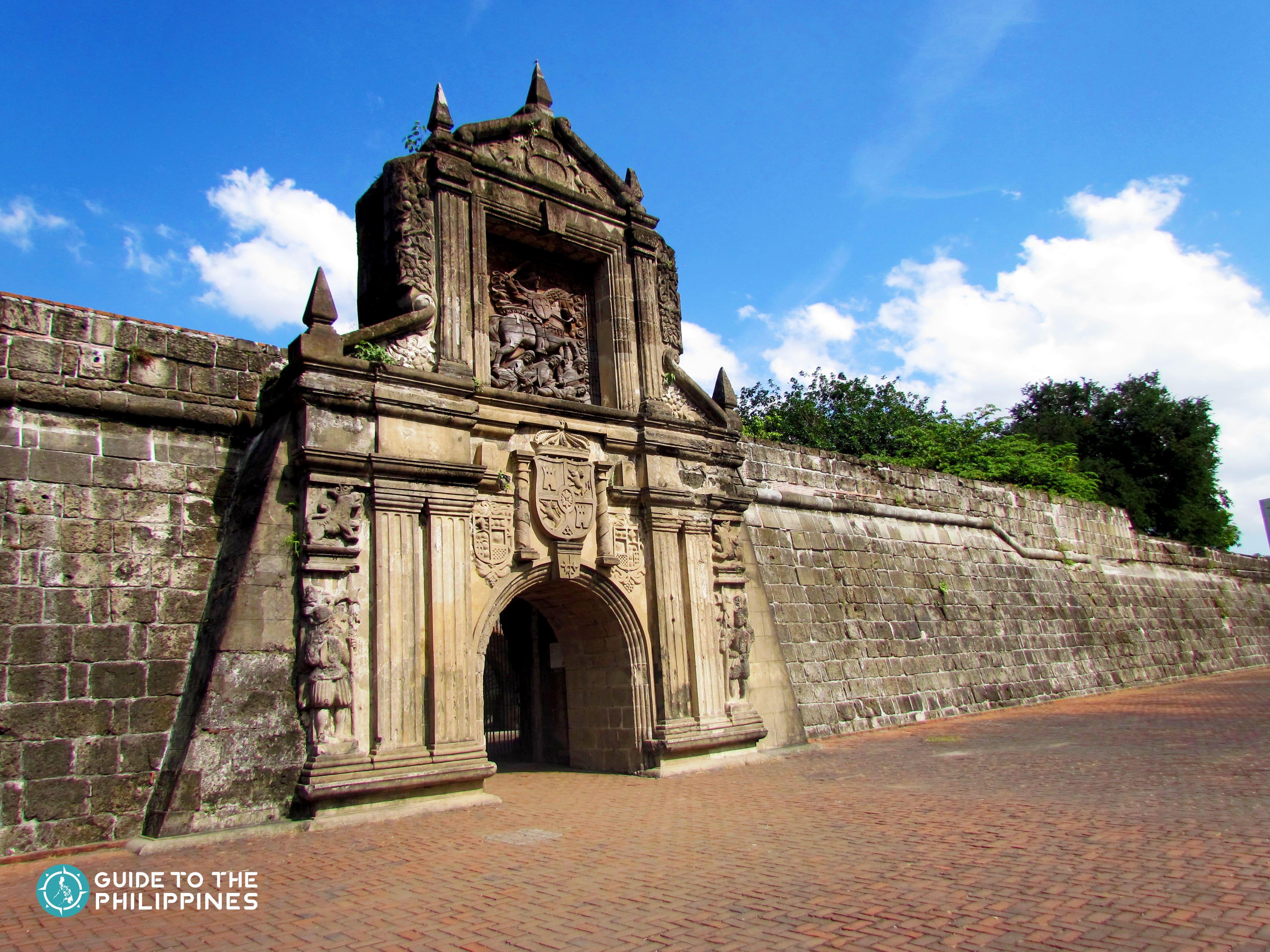 Facade of Fort Santiago in Manila