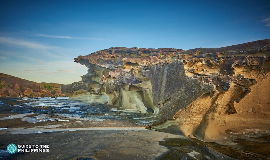 View of a rock formation on Biri Island
