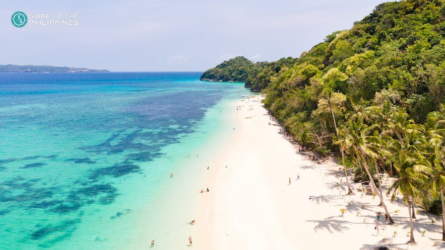 Aerial view of White Beach in Boracay