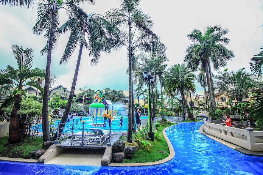 The lazy river in Water Camp Resort