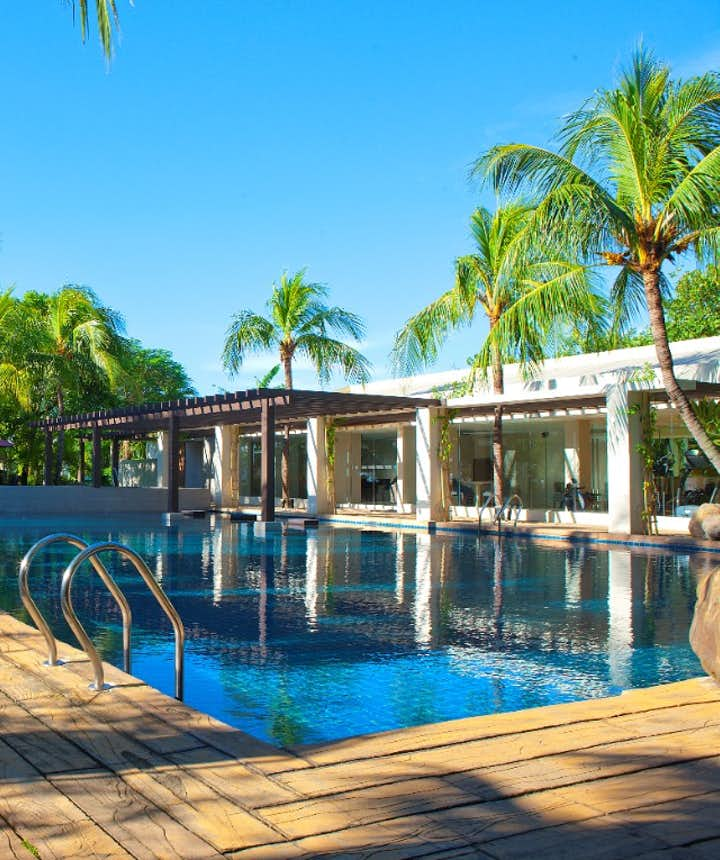 The poolside of Mount Sea Resort