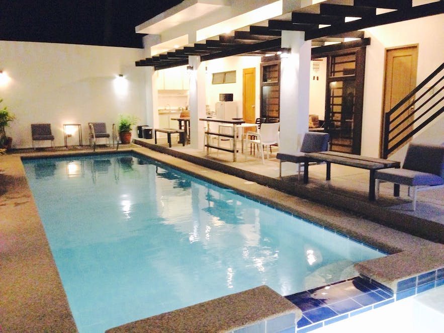 The pool in Boutique Pool House