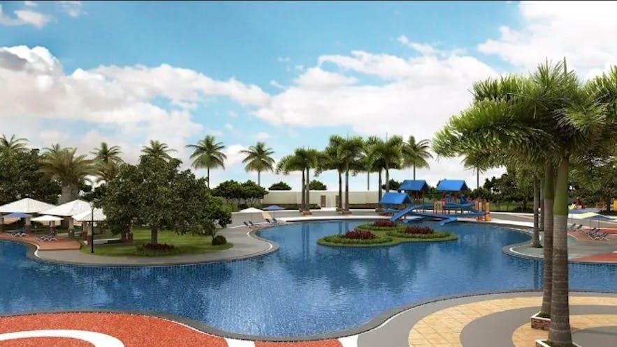 Poolside of Aquamira Resort