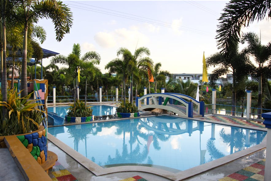 One of the pools in Poracay Resort