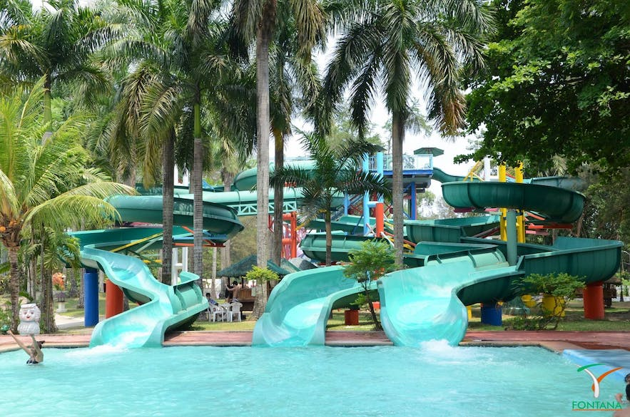 Water slides in Fontana Leisure Parks